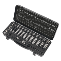 "34pc 3/8"" Sq Drive WallDrive®️ Socket set - Metric Black Series. AK7971"